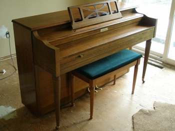 Currier apartment sized piano