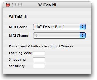 WiiToMidi - Wii Controller to MIDI interface for Mac OS X